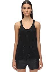 Zadig And Voltaire Embellished Merino Wool Knit Tank Top Black