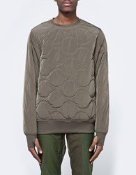 Mhi Quilted Crew Sweat Olive