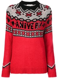 Aniye By Logo Knit Sweater Red