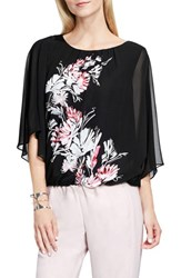 Vince Camuto Women's Winter Garland Print Batwing Blouse
