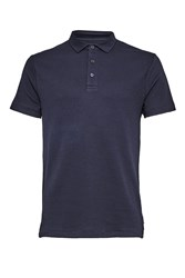 French Connection Men's Central Crepe Polo Shirt Blue