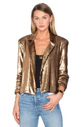 House Of Harlow X Revolve Gigi Sequin Bolero Metallic Gold