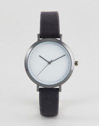 Asos Dark Gray Velvet Watch Gray