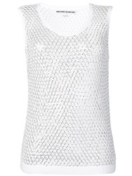 Ermanno Scervino Sheer Knitted Top White