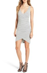 Leith Women's Ruched Wrap Front Tank Dress