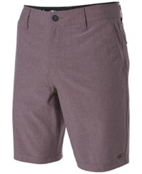 O'neill Men's Locked Stripe Hybrid Shorts Burgundy