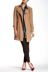 Insight Long Asymmetrical Belted Jacket Brown