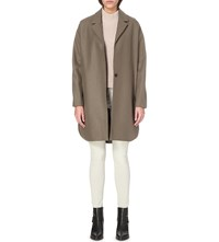 Allsaints Vine Wool Blend Coat Olive Green
