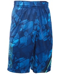 Under Armour Men's Sc30 Printed Basketball Shorts Royal Blue