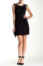 Jack Eva Netting Fit And Flare Dress Black