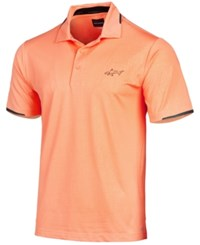 Greg Norman For Tasso Elba Men's Embossed Performance Polo Created For Macy's Apricot Haze