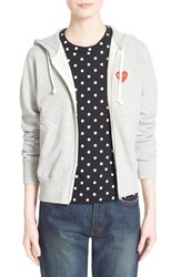 Women's Comme Des Garcons 'Play' Cotton Zip Hoodie