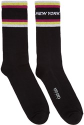 Kenzo Black Paradise New York Socks