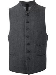 Forme D'expression Buttoned Fitted Waistcoat Grey