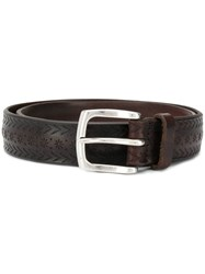 Orciani Embossed Belt Brown