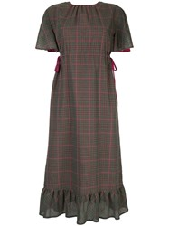 Guild Prime Hybrid Check Midi Dress Multicolour