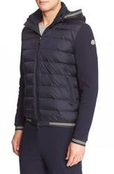 Moncler Men's Tipped Trim Quilted Down Hoodie