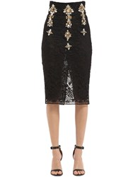 Stefano De Lellis Embellished Lace Pencil Skirt