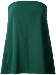 H Beauty And Youth Strapless Flared Blouse Green