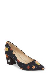 Athena Alexander Haven Block Heel Pump Floral Fabric