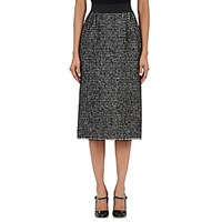 Dolce And Gabbana Women's Tweed Fitted Pencil Skirt Black Blue Black Blue