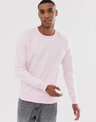 French Connection Striped Crew Neck Sweatshirt Pink