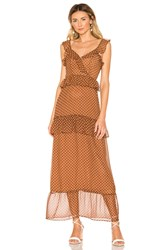 House Of Harlow X Revolve Violette Dress Chocolate