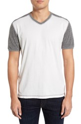 Men's Agave 'Rubicon' V Neck Baseball T Shirt Cloud Dancer