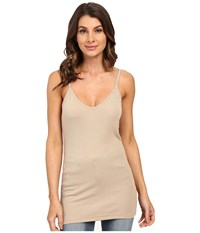 Heather Rib Bubble V Cami Top Khaki Women's Short Sleeve Pullover