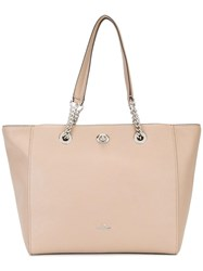 Coach Turnlock Chain Tote Nude Neutrals