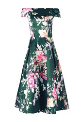 Jolie Moi Bardot Neckline Prom Dress Green