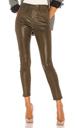 Ag Adriano Goldschmied Farrah Skinny Ankle Leatherette. Dark Bayou