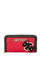 Betsey Johnson Faux Leather Bow Wallet Red