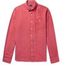 Todd Snyder Linen Shirt Red