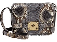 Zagliani Women's Python Giulietta Bag Grey