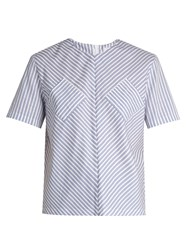 J.W.Anderson Striped Cotton Top Blue Stripe