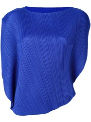 Issey Miyake Pleats Please By Pleated Blouse Blue