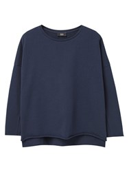 Mango Cotton Sweatshirt Navy