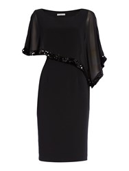 Shubette Chiffon Dress With Sequin Trim Black