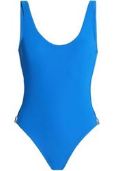 Orlebar Brown Cutout Embellished Swimsuit Blue