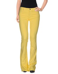 M.Grifoni Denim Trousers Casual Trousers Women Yellow
