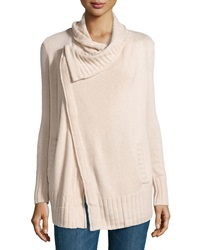 Design History Cashmere Blend Crossover Cardigan Canvas Heather