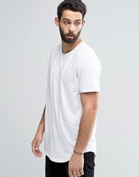 Only And Sons Crew Neck T Shirt With Cut Sew Detail White