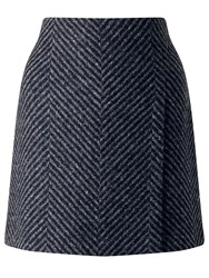 Jigsaw Herringbone Wrap Mini Grey