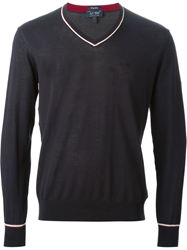 Armani Jeans V Neck Sweater Blue