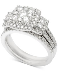 Macy's Diamond Bridal Set 1 1 2 Ct. T.W. In 14K White Gold