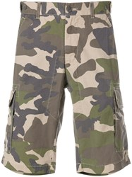 Woolrich Camouflage Cargo Shorts Green