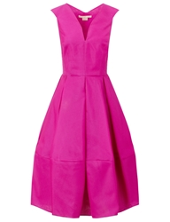 Antonio Berardi Fuchsia Silk Full Skirt Dress Pink