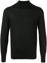 Gieves And Hawkes Long Sleeve Fitted Sweater Black