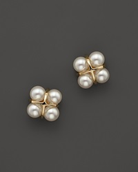 Bloomingdale's Cultured Freshwater Pearl Earrings In 18K Yellow Gold Gold White